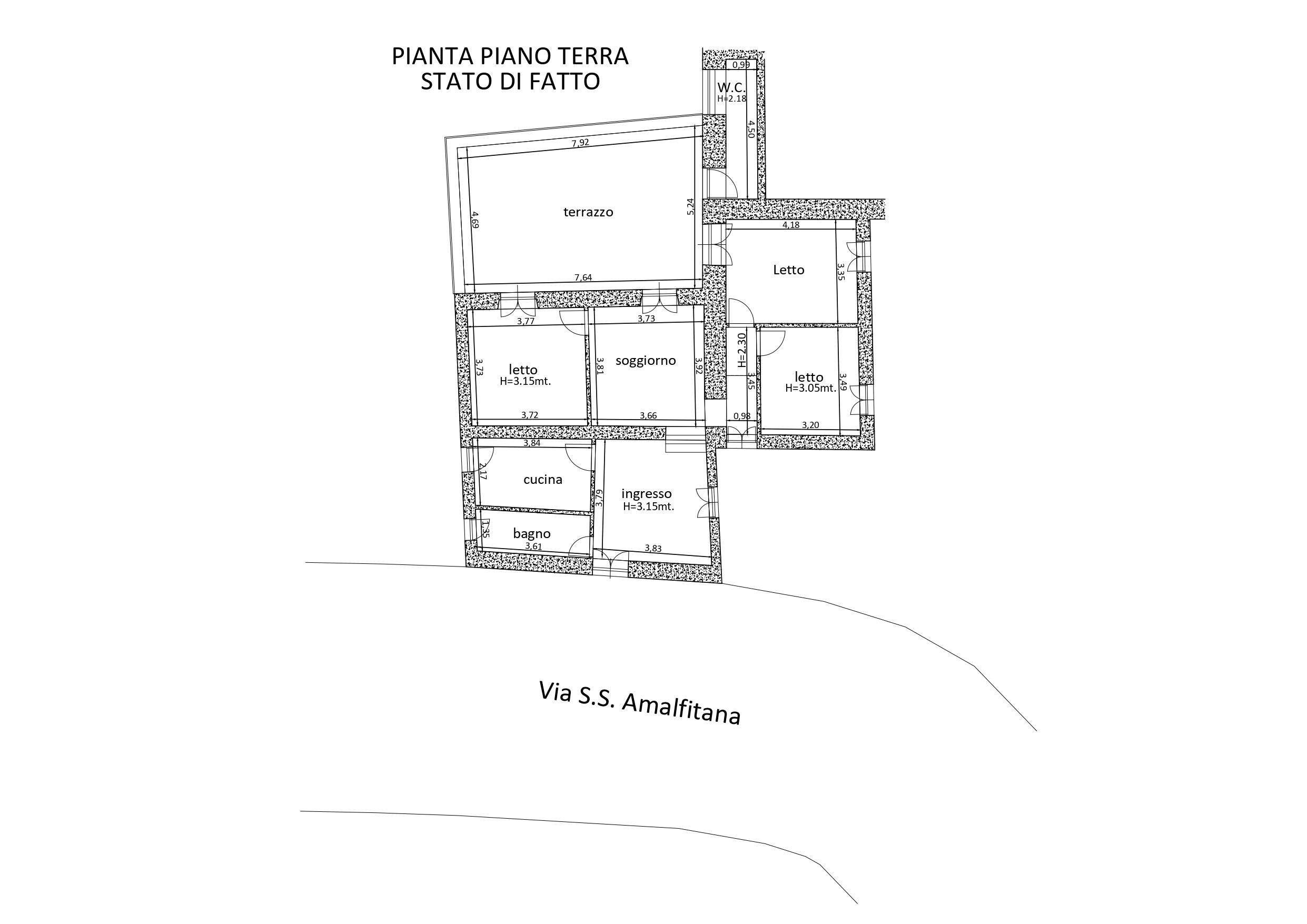 APPARTAMENTO A RAVELLO in zona MARMORATA CON DISCESA a MARE